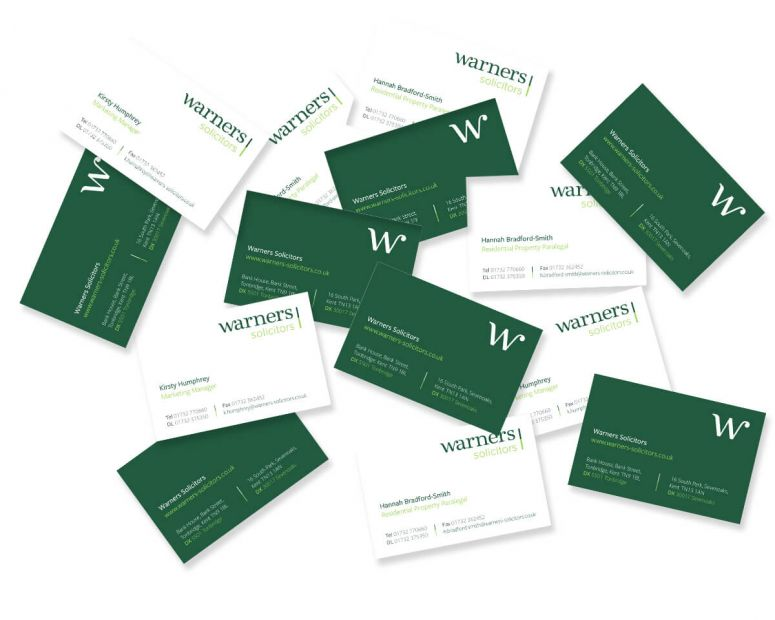 Warners Business Cards