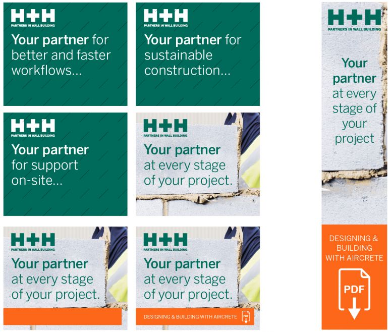 H+H Remarketing Advertisements