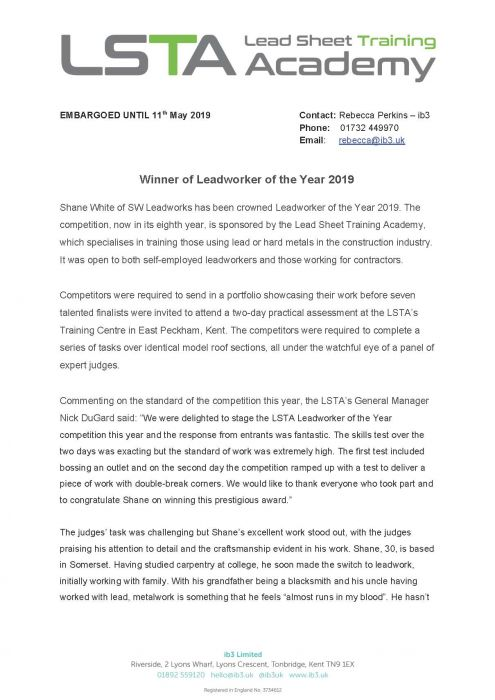 LSTA Press Release